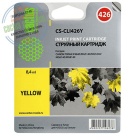 Premium CS-CLI426Y струйный картридж Cactus CLI-426Y | 4559B001, 8.2 мл, желтый