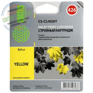 Premium CS-CLI426Y струйный картридж Cactus CLI-426Y   4559B001, 8.2 мл, желтый