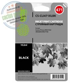 Premium CS-CLI471XLBK струйный картридж Cactus CLI-471XL Bk | 0346C001, 810 стр., фото-черный