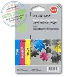 Premium CS-CLI521C/M/Y струйный картридж Cactus CLI-521 Multipack | 2934B010, 8.2 мл, набор цветной