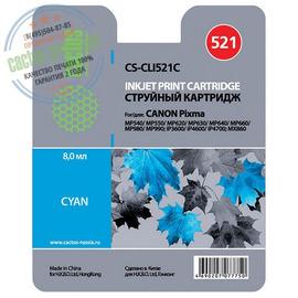 Premium CS-CLI521C струйный картридж Cactus CLI-521C | 2934B004, 446 стр., голубой