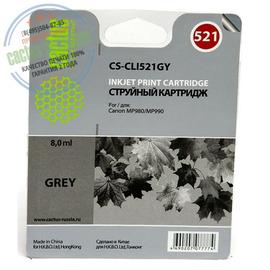 Cactus Premium CS-CLI-521GY совместимый струйный картридж аналог Canon CLI-521GY серый ресурс 8.2 мл.