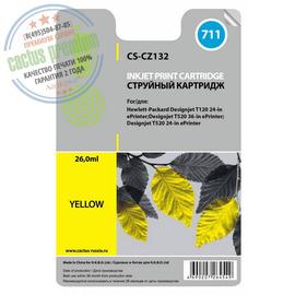 Premium CS-CZ132 струйный картридж Cactus 711 Yellow | CZ132A, 26 мл, желтый