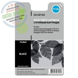 Premium CS-CZ133 струйный картридж Cactus 711 Black | CZ133A, 73 мл, черный