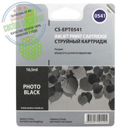 Cactus Premium CS-EPT0541 совместимый струйный картридж аналог Epson C13T05414010 черный ресурс 16.2 мл.