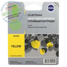 Cactus Premium CS-EPT0544 совместимый струйный картридж аналог Epson C13T05444010 желтый ресурс 16.2 мл.