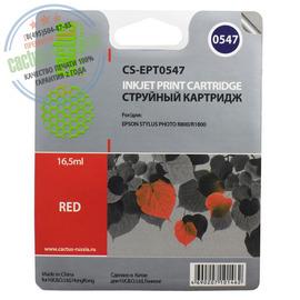Cactus Premium CS-EPT0547 совместимый струйный картридж аналог Epson C13T05474010 красный ресурс 16.2 мл.