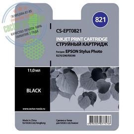 T0821 Black | C13T11214A10 (Cactus PR) струйный картридж - 11,4 мл, черный