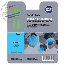 Cactus Premium CS-EPT0825 совместимый струйный картридж аналог Epson C13T11154A10 светло-голубой ресурс 11.4 мл.
