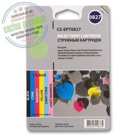 T0817 Multipack | C13T11174A10 (Cactus PR) струйный картридж - 480 стр, набор цветной + черный