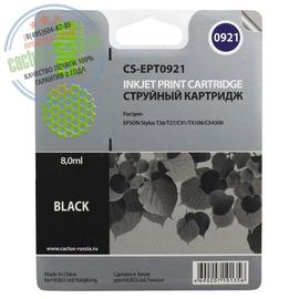 Premium CS-EPT0921 струйный картридж Cactus T0921 Black | C13T10814A10, 8 мл, черный