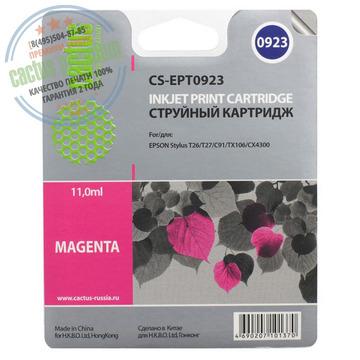 Premium CS-EPT0923 струйный картридж Cactus T0923 Magenta | C13T10834A10, 6.6 мл, пурпурный