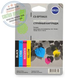 Cactus Premium CS-EPT0925 совместимый струйный картридж аналог Epson C13T10854A10 комплект 4 цветный ресурс 250 страниц