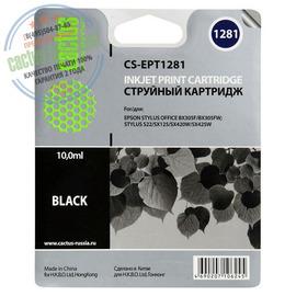 Cactus Premium CS-EPT1281 совместимый струйный картридж аналог Epson C13T12814011 черный ресурс 10 мл.