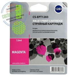 Cactus Premium CS-EPT1283 совместимый струйный картридж аналог Epson C13T12834011 пурпурный ресурс 7 мл.