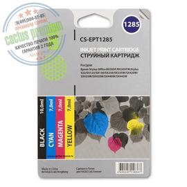 Cactus Premium CS-EPT1285 совместимый струйный картридж аналог Epson C13T12854010 комплект 4 цветный ресурс 260 страниц