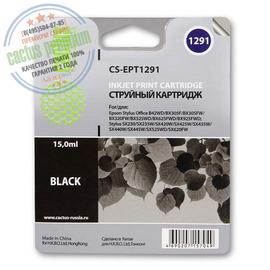 Cactus Premium CS-EPT1291 совместимый струйный картридж аналог Epson C13T12914011 черный ресурс 15 мл.