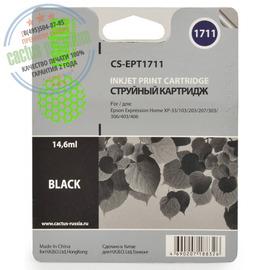 Cactus Premium CS-EPT1711 совместимый струйный картридж аналог Epson C13T17114A10 черный ресурс 14.6 мл.