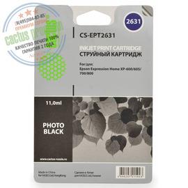 Cactus Premium CS-EPT2631 совместимый струйный картридж аналог Epson C13T26314010 чёрный-фото ресурс 11 мл.