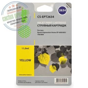 PREMIUM CS-EPT2634 совместимый струйный картридж 26XL Yellow   C13T26344010 - желтый, 11 мл