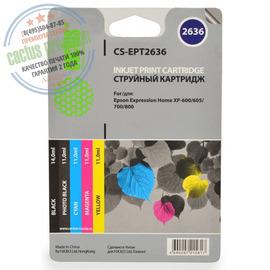 Premium CS-EPT2636 струйный картридж Cactus 26XL Multipack | C13T26364010, 700 стр., набор цветной + черный