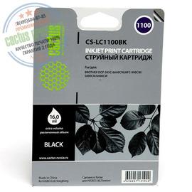 Cactus Premium CS-LC1100BK совместимый струйный картридж аналог Brother LC1100BK черный ресурс 16 мл.