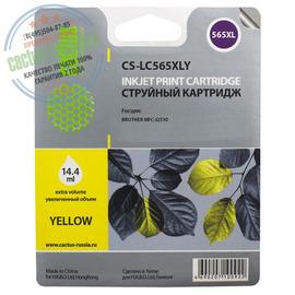 Cactus Premium CS-LC565XLY совместимый струйный картридж аналог Brother LC565XLY желтый ресурс 14.4 мл.