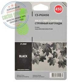 Premium CS-PGI450 струйный картридж Cactus PGI-450Bk | 6499B001, 21.4 мл, черный