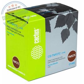 Cactus Premium CS-TNP27C совместимый тонер картридж аналог Konica-Minolta TNP-27C голубой ресурс 6000 страниц