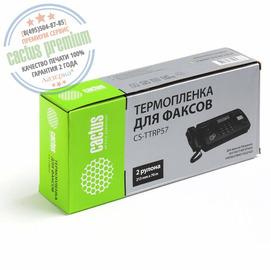 Cactus Premium CS-TTRP57 совместимая факсовая плёнка аналог Panasonic KX-FA57A7 черный ресурс 140 метров
