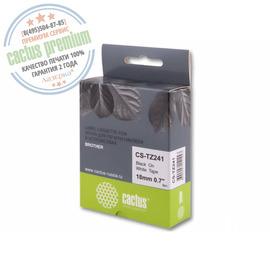 Premium CS-TZ241 лента для наклеек Cactus TZe-241 Label Roll, 8 м, черный на белом
