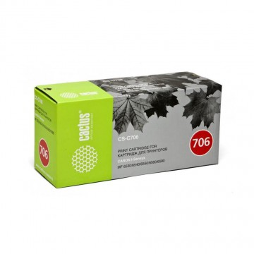 Cactus CS-C706 совместимый картридж аналог Canon 706 чёрный, ресурс - 5000 страниц
