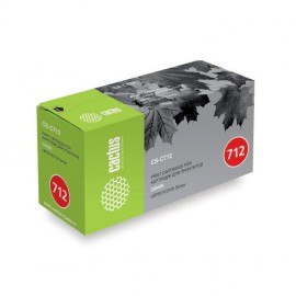 Cactus CS-C712 совместимый картридж аналог Canon 712 чёрный, ресурс - 1500 страниц