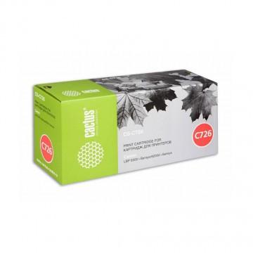 Cactus CS-C726S совместимый лазерный картридж 726 | 3483B002 - черный, 2100 стр