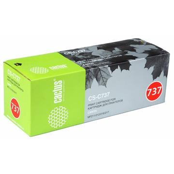 Cactus CS-C737 совместимый лазерный картридж 737 | 9435B004 - черный, 2400 стр