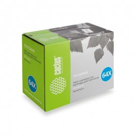 CS-CC364XS лазерный картридж Cactus 64X Black | CC364X, 24000 стр., черный