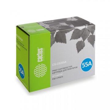 Cactus CS-CE255AS совместимый картридж аналог HP CE255A чёрный, ресурс - 6000 страниц