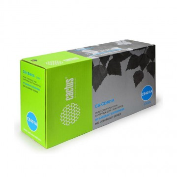 Cactus CS-CE401A совместимый картридж аналог HP CE401A голубой, ресурс - 6000 страниц