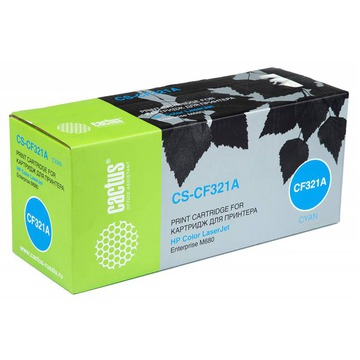 Cactus CS-CF321AV совместимый лазерный картридж 653A Cyan | CF321A - голубой, 16500 стр