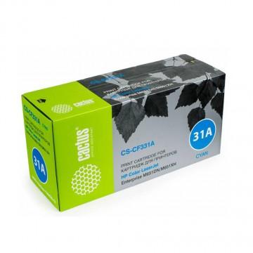Cactus CS-CF331AV совместимый лазерный картридж 654A Cyan | CF331A - голубой , 15000 стр