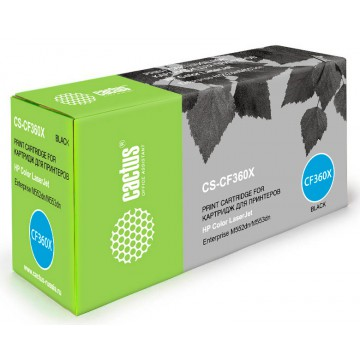 Cactus CS-CF360X совместимый лазерный картридж 508X Black | CF360X - черный, 12500 стр