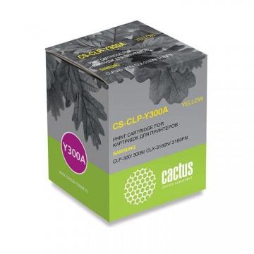 Cactus CS-CLP-Y300A совместимый картридж аналог Samsung CLP-Y300A жёлтый, ресурс - 1000 страниц