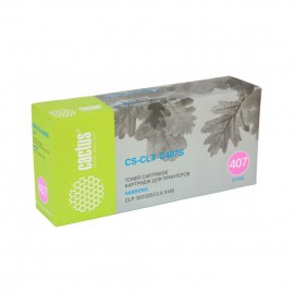 Cactus CS-CLT-C407S совместимый картридж аналог Samsung CLT-C407S голубой, ресурс - 1000 страниц