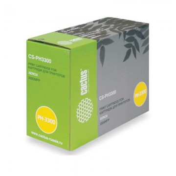 Cactus CS-PH3300 совместимый картридж аналог Xerox 106R01412 чёрный, ресурс - 8000 страниц
