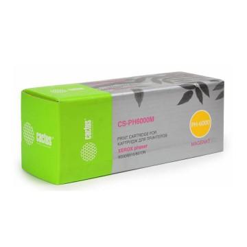 Cactus CS-PH6000M совместимый тонер картридж 106R01632 Toner Magenta - пурпурный, 1000 стр