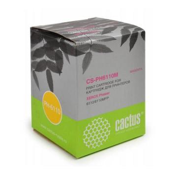 Cactus CS-PH6110M совместимый картридж аналог Xerox 106R01205 пурпурный, ресурс - 1000 страниц