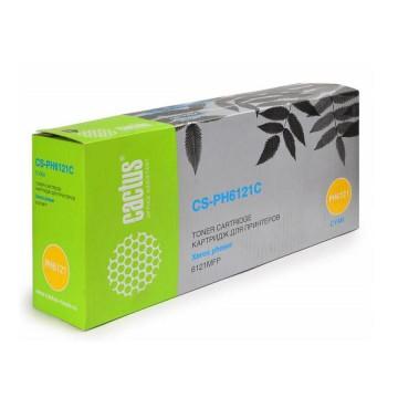 Cactus CS-PH6121C совместимый тонер картридж 106R01473 Toner Cyan - голубой, 2500 стр