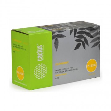 Cactus CS-PH6280Y совместимый тонер картридж 106R01402 Toner Yellow - желтый , 5900 стр
