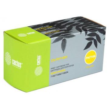 Cactus CS-PH7100Y совместимый тонер картридж 106R02608 Toner Yellow - желтый, 4500 стр