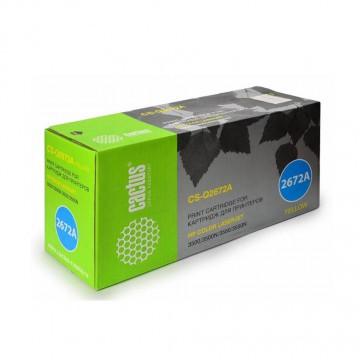 Cactus CS-Q2672A совместимый лазерный картридж 309A Yellow | Q2672A - желтый, 4000 стр